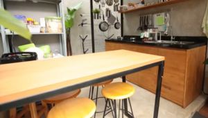 konsep kitchen set minimalis