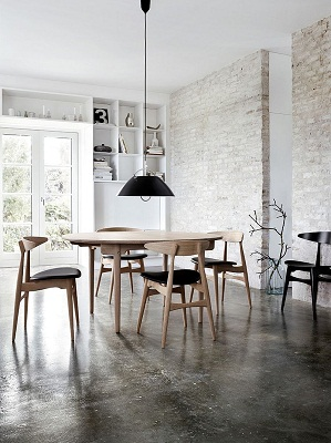 Brick walls offer the perfect backdrop for the industrial style setting