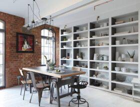 desain ruang makan bergaya industrial