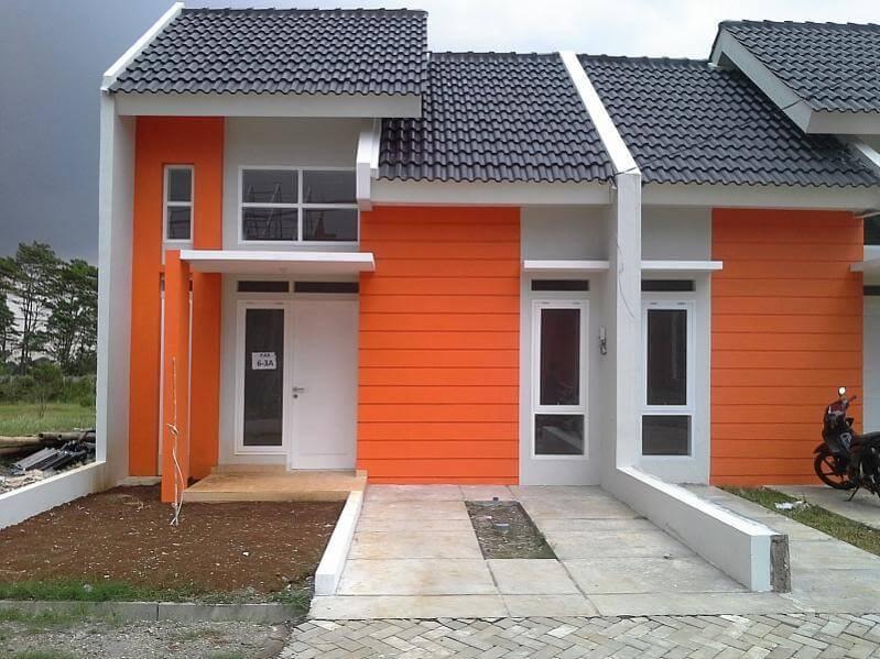Rumah minimalis warna orange 31